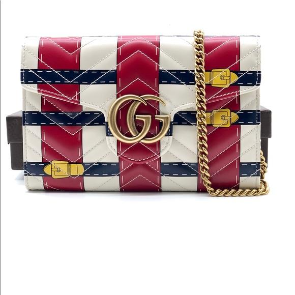 b56da20c97c Gucci Marmont Trompe L oeil Leather crossbody